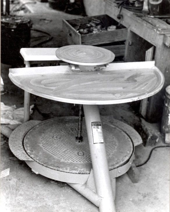 Our covered patio housed a variety of essential items - one never knows when they will need a sewing machine or a pottery wheel.